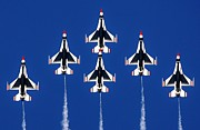 Jets Photos - Thunderbirds Vertical by Benjamin Yeager