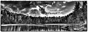 Monotone Prints - Thunderclouds over Cary Lake Print by David Patterson