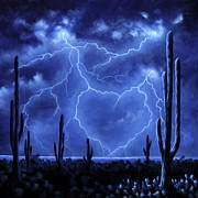 Thunder Paintings - Thunderheart by Ric Nagualero