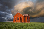 House Digital Art Prints - Thunderous Plains Print by Jill Van Doren Rolo
