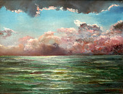 Custom  Studio Paintings - Thunderstorm on the see by Vladimir Volosov