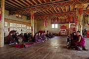 Chanting Prints - Thuptencholing Monastery - Solu Valley Nepal Print by Craig Lovell