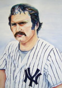 Yankees Painting Originals - Thurman by Brian Degnon