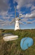 Mills Framed Prints - Thurne Dyke Windpump Norfolk Framed Print by Louise Heusinkveld