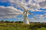Mills Framed Prints - Thurne Dyke Windpump on the Norfolk Broads Framed Print by Louise Heusinkveld