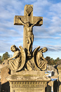 Crucifixion Photo Acrylic Prints - Thy Will Be Done - Glasnevin Dublin Cross Acrylic Print by Mark E Tisdale