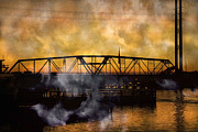 Draw Bridge Prints - TI Swing Bridge Ghost Print by Betsy A Cutler East Coast Barrier Islands