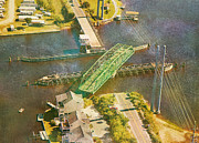Old Roadway Photo Posters - TI Swingin Swing Bridge Poster by Betsy A Cutler East Coast Barrier Islands