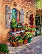 Pottery Paintings - Tia Rosas Place by Marilyn Smith