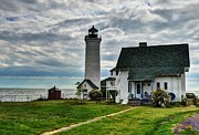 River Scenes Framed Prints - Tibbetts Point Lighthouse Framed Print by Mel Steinhauer