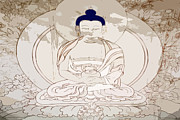 Buddhism Metal Prints - Tibet Buddha Metal Print by Kate McKenna