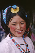 Nugget Necklace Art - Tibetan Beauty - Lhasa Tibet by Craig Lovell