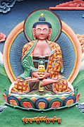 Buddha Photo Framed Prints - Tibetan buddhist deity sculpture Framed Print by Tim Gainey