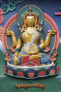Buddha Photo Framed Prints - Tibetan buddhist deity Framed Print by Tim Gainey