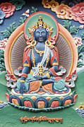 Buddha Photo Framed Prints - Tibetan Buddhist Temple deity Framed Print by Tim Gainey