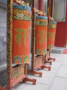 - Occupy Beijing Paintings - Tibetan Prayer Wheels by Alfred Ng