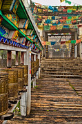 Tibetan Buddhism Prints - Tibetan Temple Entrance Print by James Wheeler