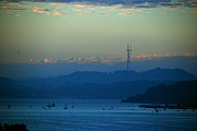 Sausalito Prints - Tiburons View of Sutro Tower Print by Eric Tressler