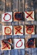 Burnt Posters - Tic Tac Toe Poster by Joana Kruse