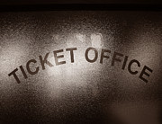 Bureau Photo Prints - Ticket Office Window Print by Olivier Le Queinec
