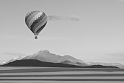 Hot Air Balloon Photos - Ticket To Paradise BW by James Bo Insogna