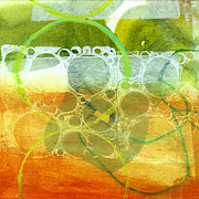 Grid Paintings - Tidal 13 by Jane Davies