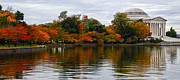 Tidal Basin Photos - Tidal Basin Autumn by Mitch Cat