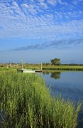 Tidal Photographs Posters - Tidal Marsh Wrightsville Beach Poster by Michael Weeks