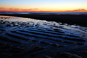 Tidal Photographs Posters - Tidal Ripples at Sunrise Poster by James Kirkikis