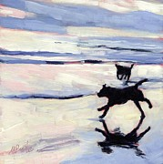 Black Dogs Framed Prints - Tide Out Framed Print by Molly Poole