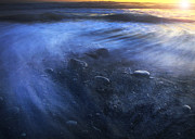 Ocean Sunset Prints - Tide Swirl  Print by Jeff Klingler
