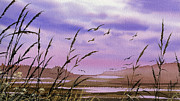 Seashore Fine Art Print Posters - Tideland Shore Poster by James Williamson