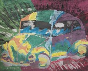 Vw Beetle Originals - Tie-Dye Beetle by Thomasina Durkay
