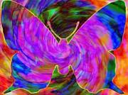 Tie-dye Butterfly Print by Elizabeth McTaggart