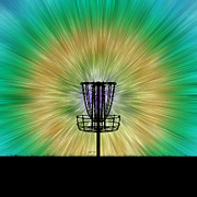 Phil Perkins - Tie Dye Disc Golf Basket