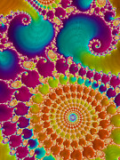 Backdrop Digital Art - Tie Dye Spiral  by Heidi Smith