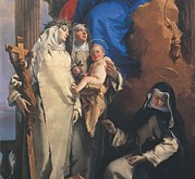 Saint Catherine Photo Posters - Tiepolo Giambattista, Virgin Appearing Poster by Everett