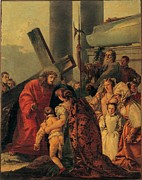 Christ On Cross Photos - Tiepolo Giandomenico, Via Crucis, Tenth by Everett