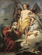 Three Angels Posters - Tiepolo, Giovanni Battista 1696-1770 Poster by Everett