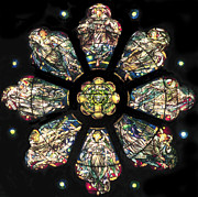 Tiffany Prints - Tiffany Rose Window Print by Philip Ralley