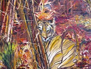 Landscape-like Art Paintings - Tiger 1 by Doris Cohen