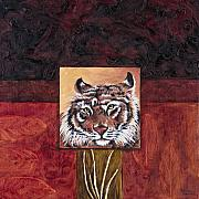Textured Painting Originals - Tiger 2 by Darice Machel McGuire
