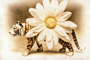 Tigress Digital Art - Tiger Dream by Jeff  Gettis