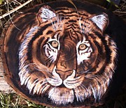 Tiger Pyrography Originals - Tiger by Keli Deets