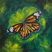 Paiting Originals - Tiger Monarch by Lovejoy Creations