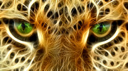 Cheetah Digital Art Prints - Tiger Portrait  Print by Mark Ashkenazi