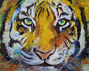Chat Posters - Tiger Psy Trance Poster by Michael Creese