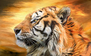Tiger Art Mixed Media - Tiger Sky by Carol Cavalaris
