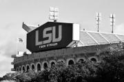 South Louisiana Prints - Tiger Stadium Print by Scott Pellegrin