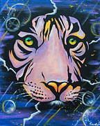 Tiger Dream Framed Prints - Tiger Framed Print by Susanne Fagan